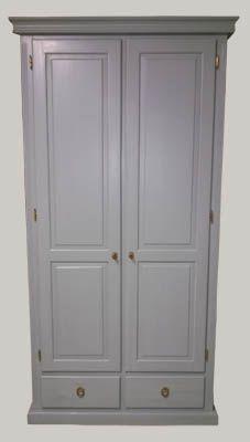 JUVIn Isännänvaatekaappi, 2 ovea ja 2 laatikkoa, 100x52x210