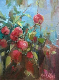 "More Apples  oil 8"" x 6""  Mary Maxam"