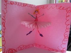 tutu card - would be great for thank you notes or premade on a princess picture for the girls to color and glitter.