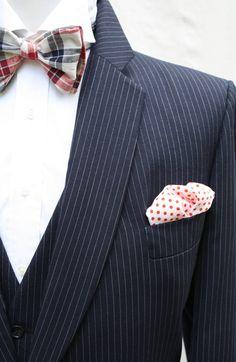 Mens Vintage 1970s 3 Piece Navy Suit Jacket Vest Pants Size 44/45R 42W - Mens Vintage Navy Pinstripe Suit by ViVifyVintage