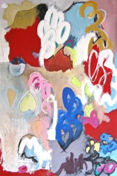 Original Abstract Acrylic Painting Entitled  Loop De by barnheart, $375.00