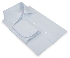 Luxire dress shirt constructed in Pale Blue Twill: http://custom.luxire.com/products/pale-blue-twill-120-2  Consists of custom collar and french cuffs.