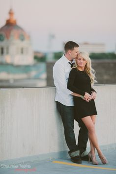 © 2013 Shaunae Teske Photography / Engagement Session in Downtown Green Bay, Wisconsin / Casandra + Ryan