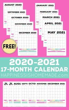 Printable December Calendar, Blank Calendar Pages, Monthly Planner Printable, Printable Calendar Template, Kids Calendar, 2021 Calendar, Monthly Calendars, Wall Calendars, Calendar Calendar
