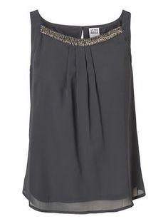 Loose Sleeveless blouse, Asphalt, main Nye, Veronica, Sleeveless Blouse, The Selection, Gray Color, Winter Fashion, Dress Up, My Style, Clothing