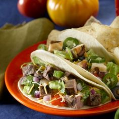 Flank steak tacos.  Restaurant quality with authentic flavour!