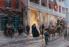 """""""Mrs. Jackson Comes to Winchester"""" by Mort Kunstler"""