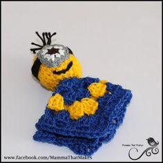 Mamma That Makes: Minion Mini Snug Blanket - Free Crochet Pattern