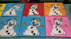 Kids Canvas, Canvas Ideas, Canvas Art, Painting For Kids, Diy Painting, Kids Class, Paint Party, Diy Crafts For Kids, Christmas Ideas