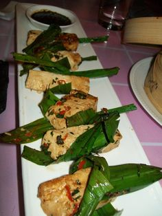 Cottage Cheese Wrapped in Pandan Leaf @Singkong,Mumbai