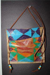 Plains Indian Parfleche activity for kids - could use paper bags