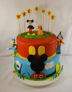Bolo Falso para festa tema Mickey. Peça a pronta entrega.