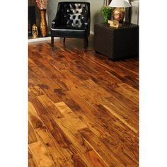 Shop tecsun 4.72-in W Prefinished Acacia Engineered Hardwood Flooring (Salted Caramel) at Lowes.com