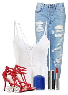 """Happy Independence Day"" by nina4ever14 ❤ liked on Polyvore featuring Topshop, Essie, Wild Diva, BCBGeneration and Givenchy"