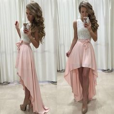 New Arrival Sexy Prom Dress, Unique Prom Dress,High Low Prom Dresses,Sleeveless Prom Gown,Chiffon Prom Party Dresses