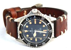 Dom Vintage Style Ammo Leather Watchstrap For Steinhart Watches