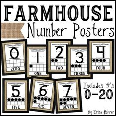 Farmhouse Style Number Poster * This package is included in myFarmhouse Classroom … – Farmhouse Office Decorating Ideas Classroom Board, Classroom Setup, Classroom Design, Kindergarten Classroom, Future Classroom, School Classroom, I School, Classroom Organization, Classroom Walls