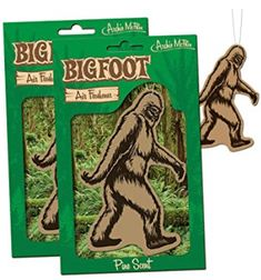 BIGFOOT Air Freshener - 2 Pack Pine Scent - For Car RV Trailer Tent - Best Yeti Sasquatch Bigfoot Gifts *** Find out more about the great product at the image link. Best Car Air Freshener, Room Freshener, Trailer Tent, Rv Trailers, Weird Stuff On Amazon, Scented Oils, Decal, Best Gifts, Believe