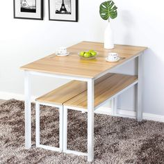 Dining Table Small Space, Small Dining Sets, Small Kitchen Tables, 3 Piece Dining Set, Kitchen Dining, Small Rectangle Dining Table, Small Table And Chairs, Small Table Ideas, Small Dining Table Apartment