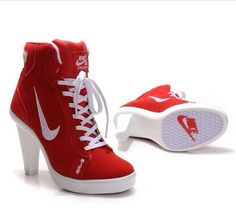 Factory Store of Nike Swoosh High Heels are very popular in Australia. The Style which is in Nike Sneakers series. The best selling line for Nike Sneakers. Sneaker High Heels, Nike High Heels, High Shoes, Heeled Boots, Shoe Boots, Shoes Heels, Red Heels, Louboutin Shoes, Christian Louboutin