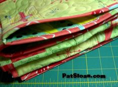 Machine stitched binding tutorial with Pat Sloan