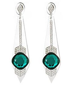 Lucite, glass and Swarovski crystal earrings...LOVE