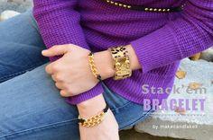 DIY Stack'em Bracelet - A super-easy  10-minute project  #handmade #jewelry