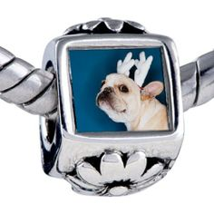Pugster Dog Reindeer Beads - Oriana Bead & Bracelet Compatible Pugster. $12.49. Fit Pandora, Biagi, and Chamilia Charm Bead Bracelets. Hole size is approximately 4.8 to 5mm. It's the photo on the flower charm. Bracelet sold separately. Unthreaded European story bracelet design