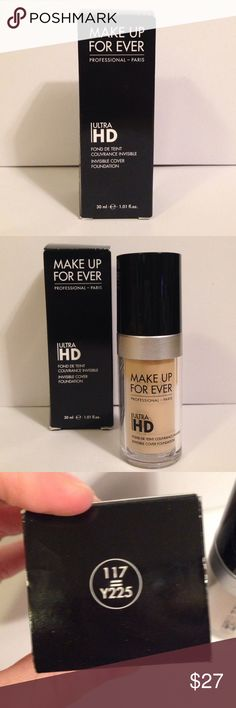 Lowest price! MUFE HD Foundation Used once. If bought on the 21st before 1pm central time, will ship the same day. Comes with original box! Makeup Forever Makeup Foundation