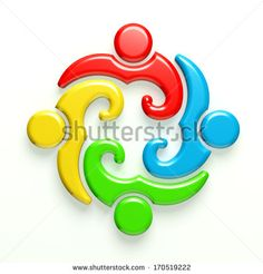 3D Glossy Illustration Business Icon Meeting 4