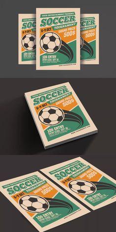 Soccer Tournament Flyer Template PSD Flyer Design Templates, Flyer Template, Soccer Tournament, Sports Flyer