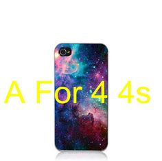 Wholesale Top Quality Cloud Sky Space/Universe Triangle Hard Plastic Phone Case Cover For Apple iPhone 4 4S /5 5S case EC003