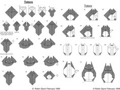 Totoro en origami!!