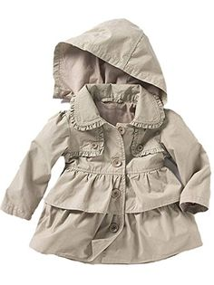 Material: Linen Wash:Hand wash Style: Cagoules & Raincoats,Season: Spring,Autumn Baby Toddler Girls Fall Winter Trench Coat Wind Hooded Jacket Kids Outerwear 100#2-3Years Grey