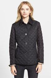 Burberry Brit 'Copford' Quilted Jacket $724 CAD #RaincoatsForWomenNavy