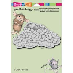 - STAMPENDOUS-House Mouse Cling Rubber Stamps - A piece of cling vinyl is on the adhesive side of the foam allowing the image to be used with any acrylic block (sold separately). Simply remove the dis