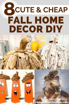 8 Cute budget-friendly Fall Decor DIY tips. You can use driftwood, reclaimed wood, old ceiling fan blades, pine cones, and wood slices. aufbewahrung garten kleidung kosmetik wohnen it yourself clothes it yourself home decor it yourself projects Diy Home Decor On A Budget, Diy Home Decor Projects, Retro Home Decor, Easy Home Decor, Handmade Home Decor, Do It Yourself Home, Eclectic Decor, Fan Blades, Wood Slices