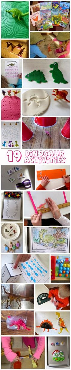 D is for Dinosaurs! 19 learning activities for toddlers and preschoolers! I love the paleontologist dig!