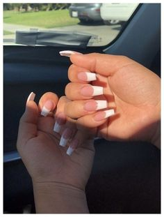 - white acrylic nails - # acrylic nails # white haircuts for every face . - – white acrylic nails – # Acrylic nails Haircuts for every face, make-up for every face - White Tip Acrylic Nails, Summer Acrylic Nails, Nails With White Tips, Long White Nails, Acrylic Toes, French Manicure Acrylic Nails, Square Acrylic Nails, White Acrylics, Aycrlic Nails