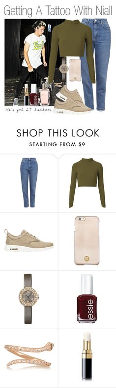 """""""Getting A Tattoo With Niall (Requested)"""" by one-direction-outfitsxxx ❤ liked on Polyvore featuring Topshop, NIKE, Tory Burch, Cartier, Essie, Ileana Makri and Chanel"""