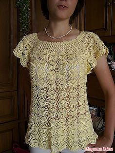 nice tunic! with square collar and diagram for the stitch!