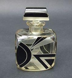 vintage Czech Art Deco perfume scent bottle.