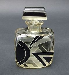 vintage Czech Art Deco perfume scent bottle.