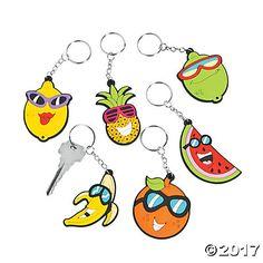 Tropical Fruit Key Chains