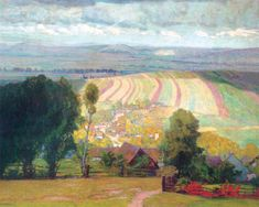 urgetocreate:  Alois Kalvoda, Moravian Slovakia—View to Hill with Chapel of Anthony of Padua, 1906
