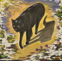 ProwlingPantern oil on canvas Anne Karin Stølan Oil Paintings, Oil On Canvas, Moose Art, Cats, Animals, Gatos, Animales, Animaux, Animal