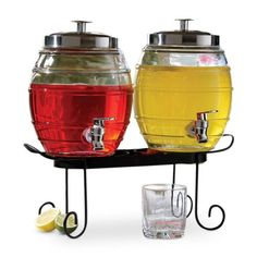 Find it at the Foundary - Style Setter Pub Beverage Dispenser Set with Rack