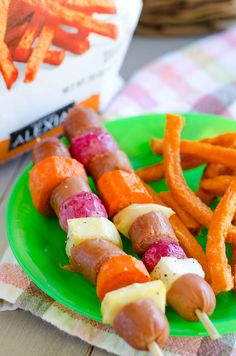 Roasted Root Vegetable and Hot Dog Skewers (Plus 4 More 30-Minute Meal Ideas with Alexia Foods) #FarmtoFlavor #sponsored