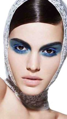 Dramatic Eyes, That Look, Make Up, Faces, Blue, Color, Colour, Makeup, The Face
