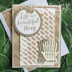 Stampin' Up!, Colorful Seasons stamp set and bundle, Seasonal Layers Thinlits Dies, Embossing Paste, MonoMonday Stampin Up Catalog 2017, Stampin Pretty, Beach Cards, Coffee Cards, Card Making Inspiration, Pretty Cards, Stamping Up, Stampin Up Cards, Cardmaking